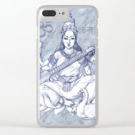 Saraswati Clear iPhone Case