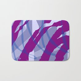 Purple Streaks & Blocks Abstract Art Bath Mat