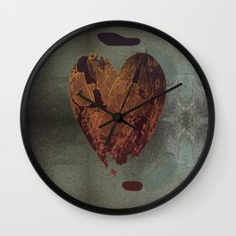 Abstract heart on sparkles Wall Clock