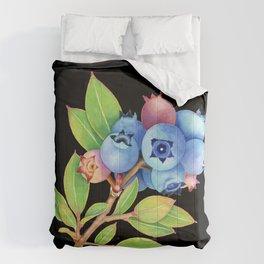 Wild Maine Blueberries Comforters