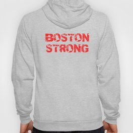 Support BOSTON STRONG Red Grunge Hoody