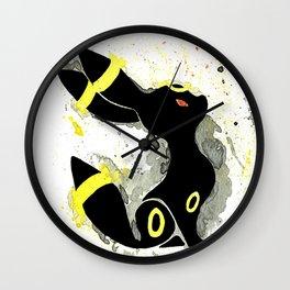 Umbreon Splash Silhouette Wall Clock