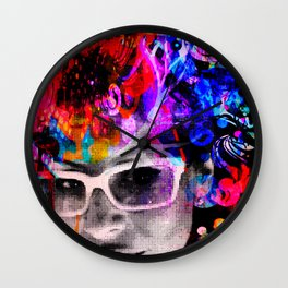 manifesting thoughts Wall Clock