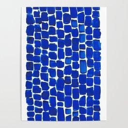 Brick Stroke Blue Poster
