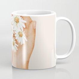 Hands Holding Flowers Coffee Mug