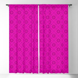 Neon , pink , ornament Blackout Curtain