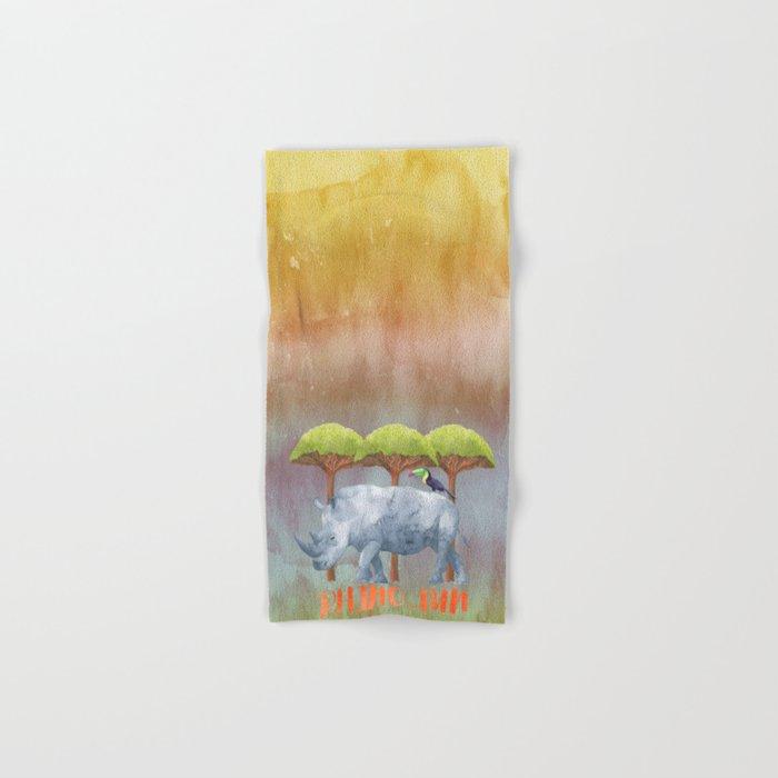 RHINO - FUN - rhinoceros - Africa Animal Hand & Bath Towel
