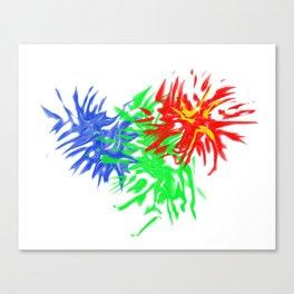 Splashing Colours Canvas Print