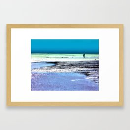 Clam Digger Framed Art Print