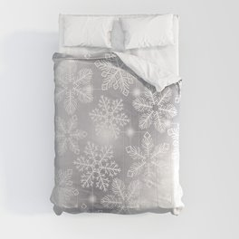 Snowflakes and lights  Comforters