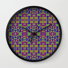 Ethnic Modern Geometric Pattern Wall Clock