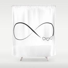 Infinity hearts symbol Shower Curtain