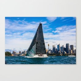 Winter Yachting on Sydney Harbour. Australia Canvas Print