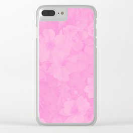 PINK MUSIC Clear iPhone Case