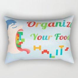 Organize Your Food Habits Rectangular Pillow
