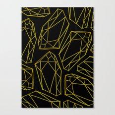 golden emptiness. Canvas Print