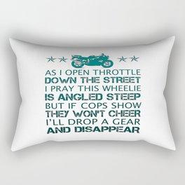 BIKER'S POEM Rectangular Pillow