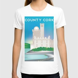 County Cork, Ireland - Skyline Illustration by Loose Petals T-shirt