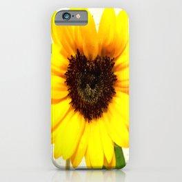 Heart shape Love Yellow sunflower iPhone Case