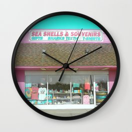 Sea Shells and Souvenirs Wall Clock