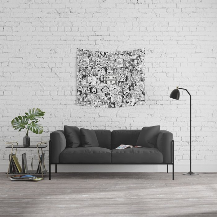 Ahegao classic Wall Tapestry