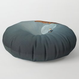 Skydiver's Moon Floor Pillow