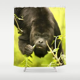 Howler monkey Shower Curtain