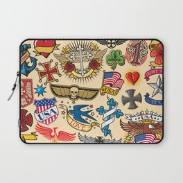 tattoo colection seamless pattern Laptop Sleeve