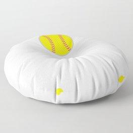 I am a Softball Mom My Heart is Full T-Shirt Floor Pillow