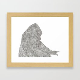 Quiet Gorilla Framed Art Print