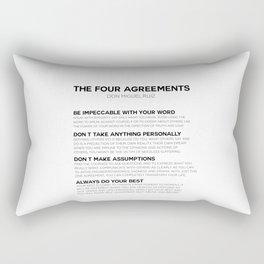 the four agreements Rectangular Pillow