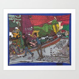 Jills Street - New York Art Print