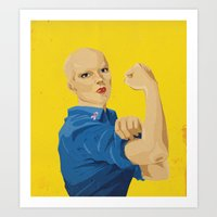 The Fight Against Breast Cancer Art Print