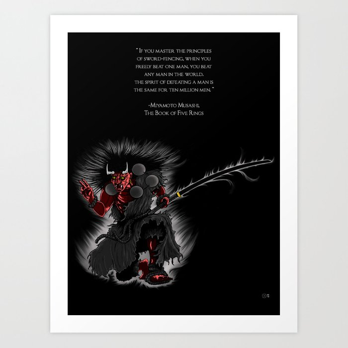 Oni Demon 2 Vertical Art Print