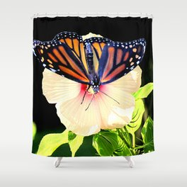 Monarch Butterfly Hibiscus Flower Floral Photo Art A358 Shower Curtain
