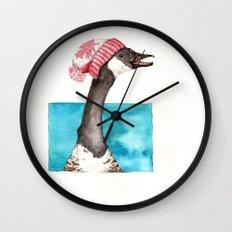 Canada Goose in a Canada Toque Wall Clock