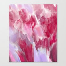 Abstract Flower Garden in Shades of Pink and Lavender Canvas Print