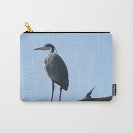 Great Blue Heron with a bird's eye view Carry-All Pouch