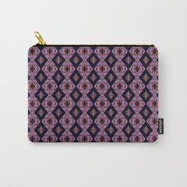 Pink Modern Tribal Diamond and Stripe Tile Carry-All Pouch