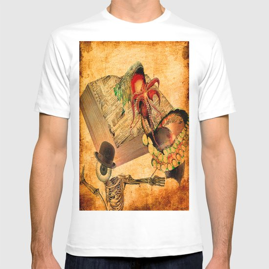 Monsieur Bone in the book of the deaths T-shirt