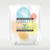 friendship Shower Curtains featuring friendship by Ayako Sakai