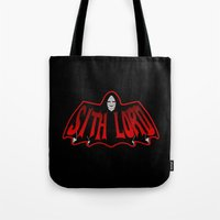 sith Tote Bags featuring Sith Lord by Buby87