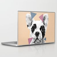 frenchie Laptop & iPad Skins featuring Frenchie by Esco