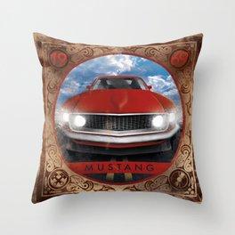 Mustang 69 Throw Pillow