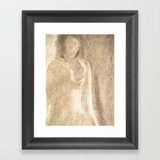 The Lady in Grey Framed Art Print