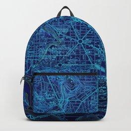 Washington West Columbia year 1945 old blue map Backpack