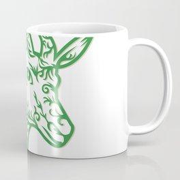 Springbok Head Paper Cut Coffee Mug