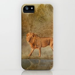 Lions At The River iPhone Case