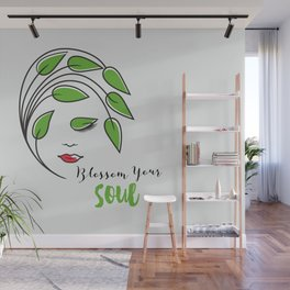 Blossom your soul, beautiful design art for men and women!! Wall Mural