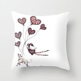 Spreading Love pt.2 Throw Pillow